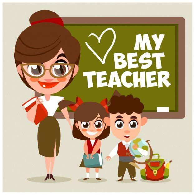 Best Teacher Background   Teaching jobs, Teacher cartoon, World teacher day