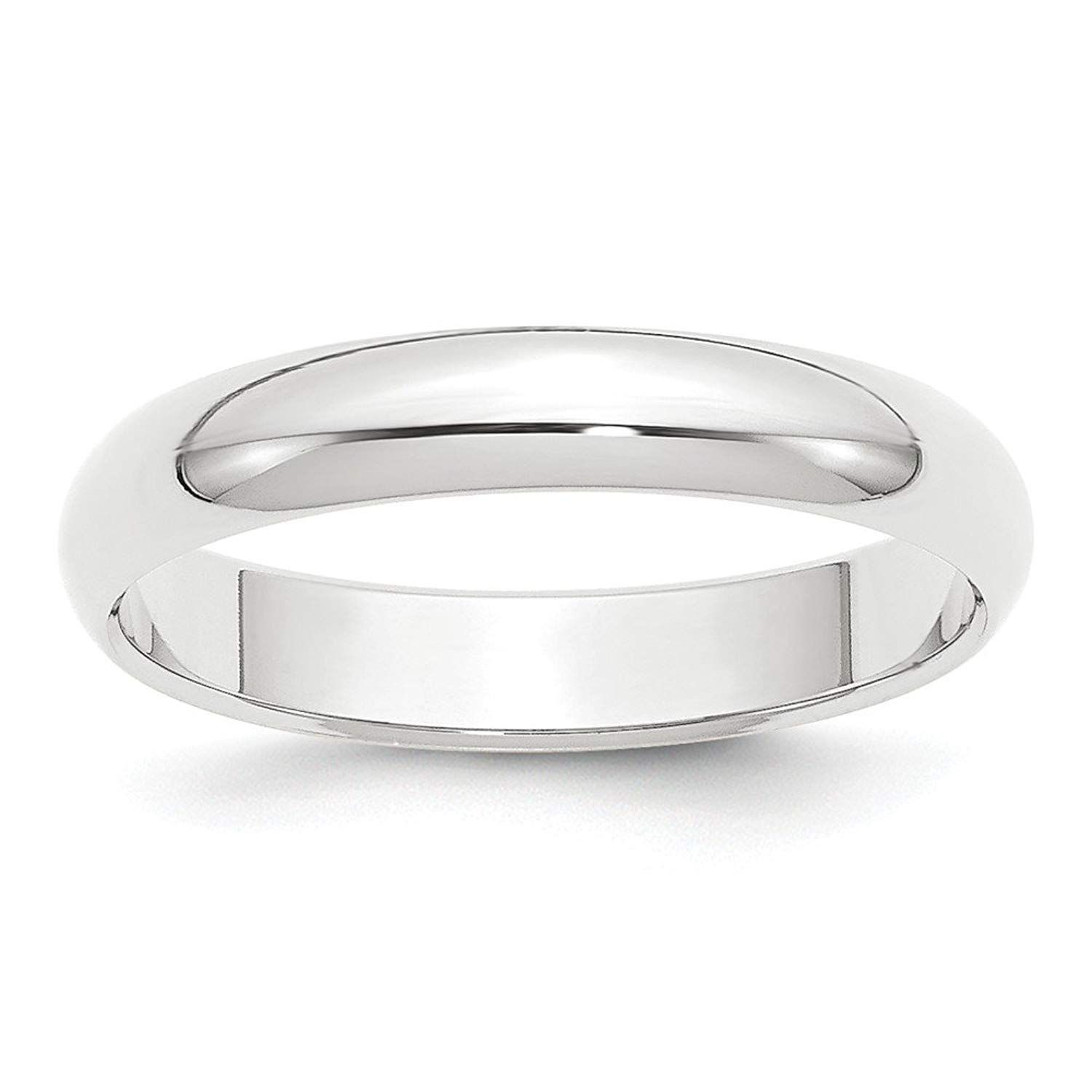 Jewelry Stores Network 8mm Flat Step Edge Sterling Silver Wedding Band Ring