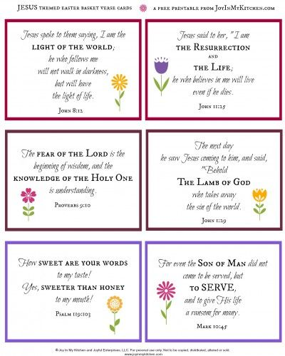 Share an easter basket filled with jesus this year easter celebrate the resurrection create a jesus themed easter basket free printable verse cards negle Images