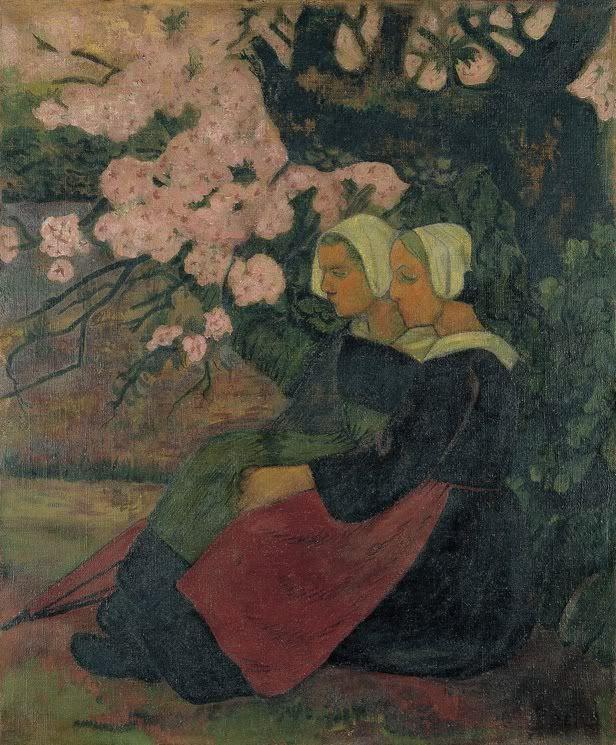 'Two Breton Women under an Apple Tree in Flower' by Paul Serusier