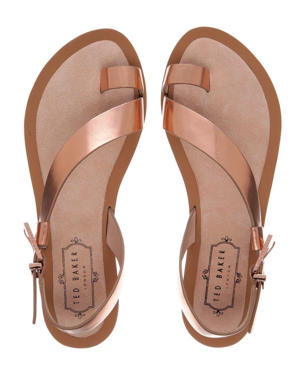 Ted Baker - Leather Toe Loop Sandal