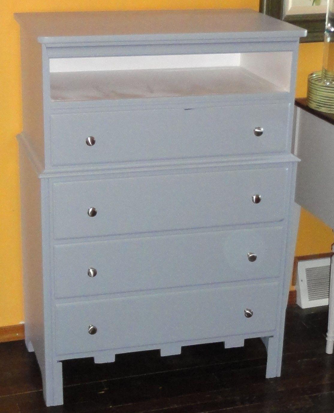 Tall Grey Dresser Chest Of Drawers With Open Storage Hidden Gem Furniture Dressers Makeover Grey Dresser Open Storage [ 1380 x 1114 Pixel ]