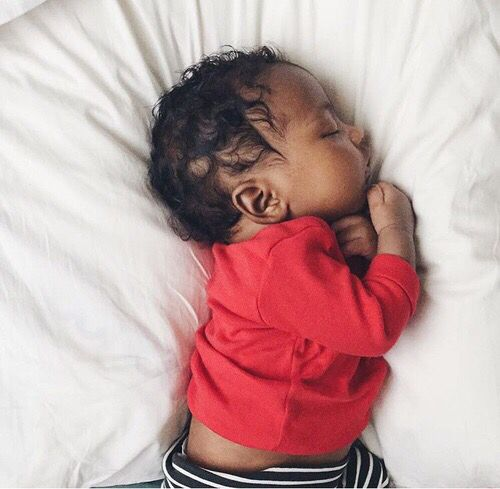 Black And White Baby Sleeping: The Sweetest When They're Sleeping