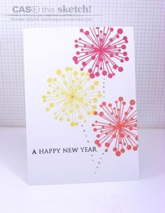 new year card handmade design