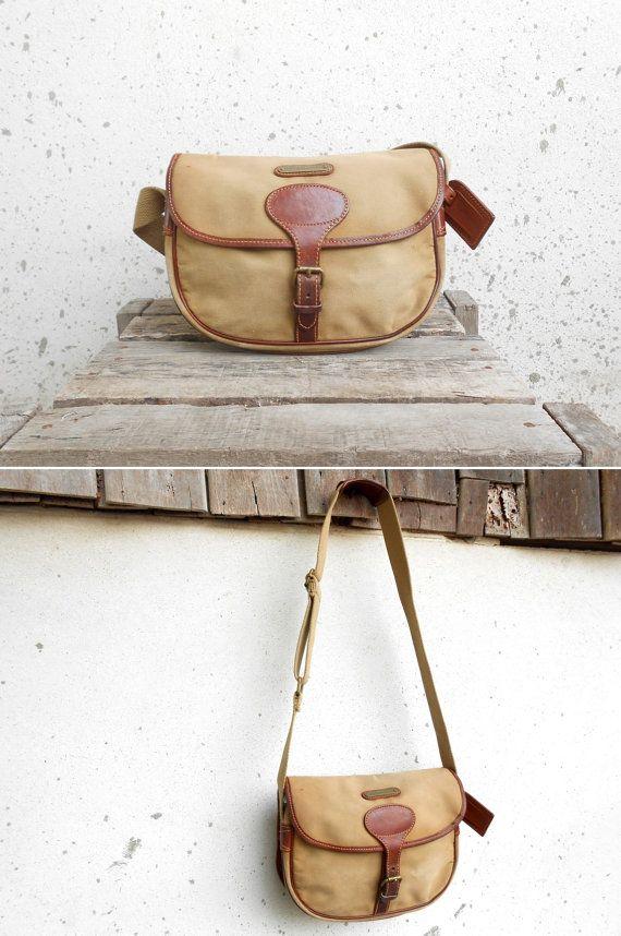 Vintage Polo Ralph Lauren Canvas Crossbody Bag By Vindicoshop 125 00 Vintage Leather Backpack Vintage Leather Messenger Bag Vintage Leather Bag
