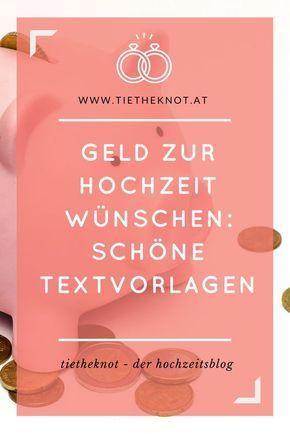 Geld Zur Hochzeit Wünschen: Sprüche U0026 Reime Für Die Einladung | Pinterest
