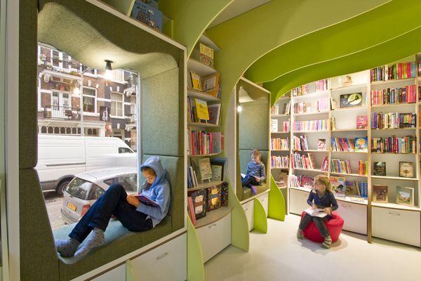 Amsterdam Children\u0027s Bookstore Dream to Plan, Plan to Reality - libreria diseo