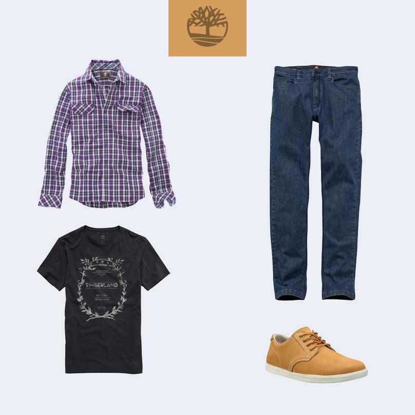 Dica de #look para passear no final de semana. Use a camisa Plaid Thompson sobre a camiseta Rótulo com calça jeans e o EK Newmarket OX. Que tal?