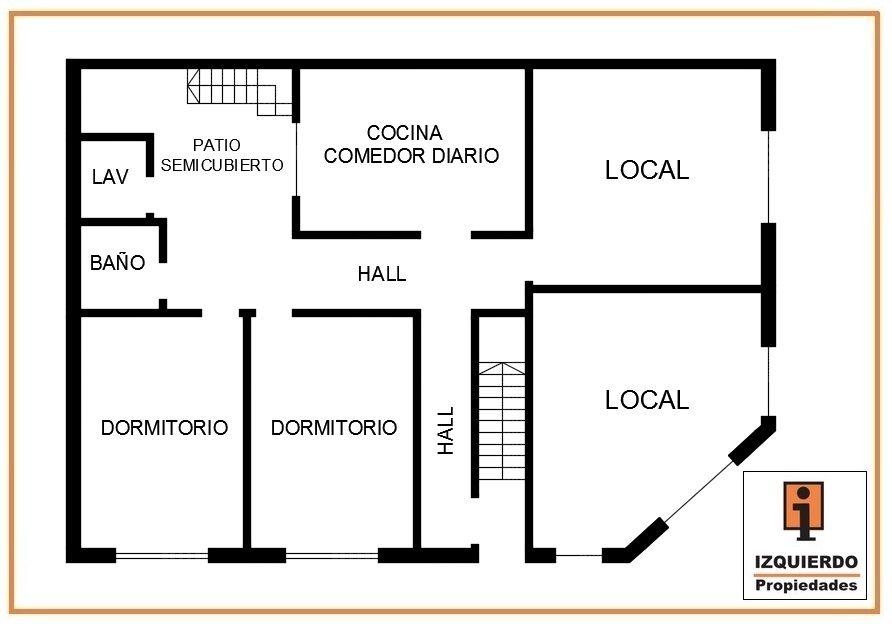 Plano de primer piso casa con un local en esquina buscar for Planos de locales