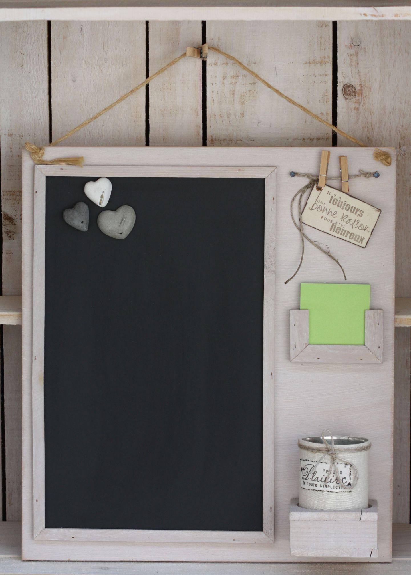 Tableau noir aimanté avec post-it et boîte | Organisation ...