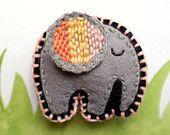 Filz Kühlschrank-Magnet (Elefant)