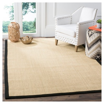 Klara Natural Fiber Area Rug Maize Black 9 X 12 Safavieh