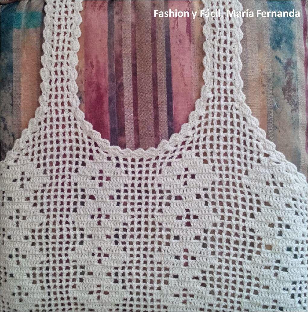 mas bajo precio navegar por las últimas colecciones más tarde PASO A PASO CAMISETA DE TIRANTES EN GANCHILLO   Crochet ...