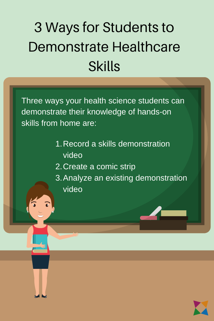 3 Ways For Students To Demonstrate Healthcare Skills During Distance Learning Health Science Education Science Student Health Careers