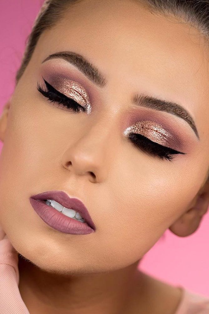 c284c8ec1 39 Top Rose Gold Makeup Ideas To Look Like A Dess Beauty