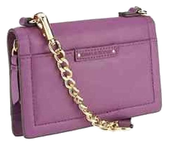 Emma & Sophia A260002 Amethyst Genuine Leather Crossbody Phone Case Wallet