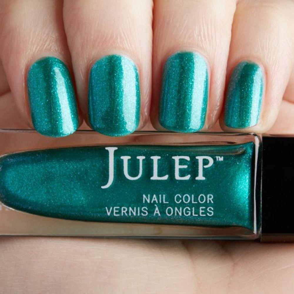 Julep SIERRA Nail Color Treat Polish Green Everglades Iridescent ...