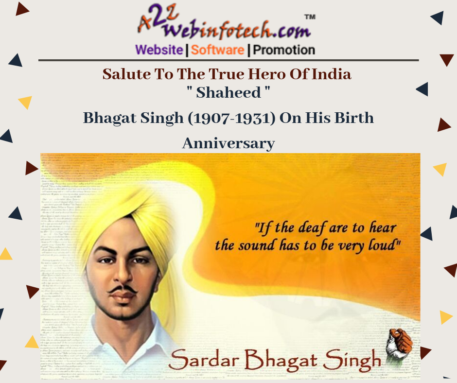 He is nonother than Late. Mr. Shahid Bhagat Singh. Bomb