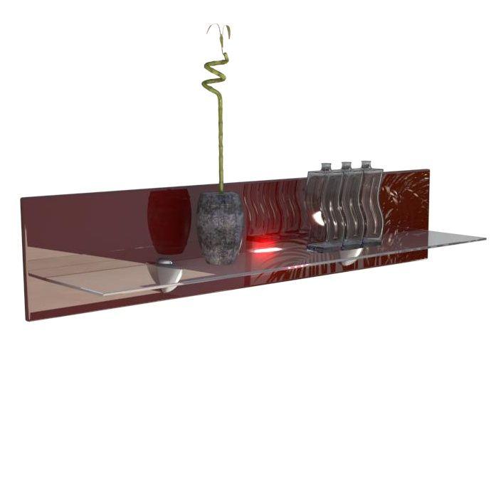 wandregal bari mit glasablage optionaler led beleuchtung. Black Bedroom Furniture Sets. Home Design Ideas