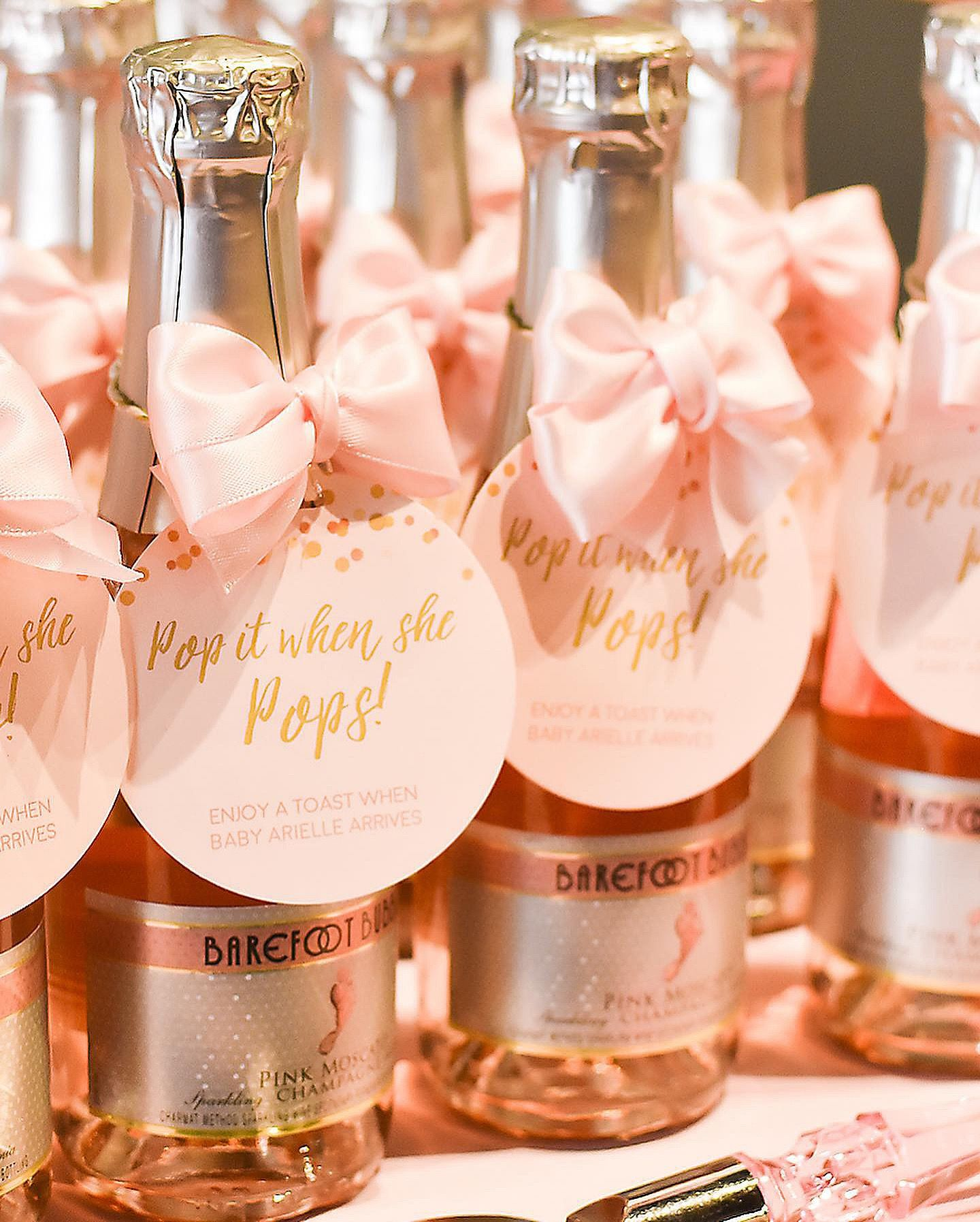 Blue Gold 2x3 Inches Personalized Cheers Mini Champagne Tags DIGITAL PRINTABLE FILES Baby Arrival Favor Tags for Baby Shower
