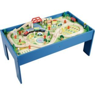 Buy Chad Valley Wooden Table And 90 Piece Train Set At Argos Co Uk Your Online Shop For Toy