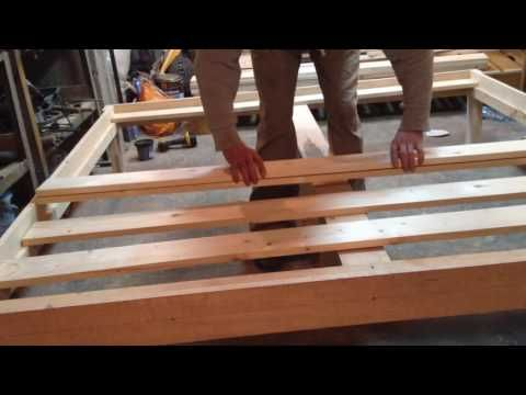 90ce4d077a96d Queen Size Bed Frame DIY - YouTube