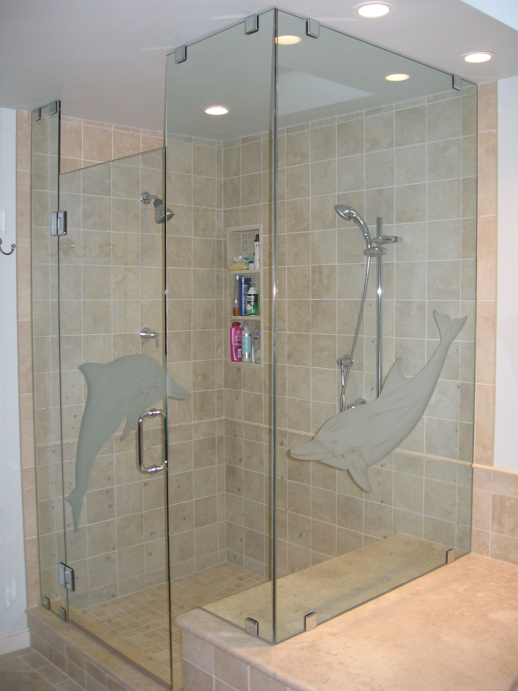 Custom Frameless Shower Door Floor To Ceiling 38 Tempered Glass