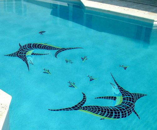 Amazing Swimming Pool Mosaics | Creative Pictures | Pinterest ...