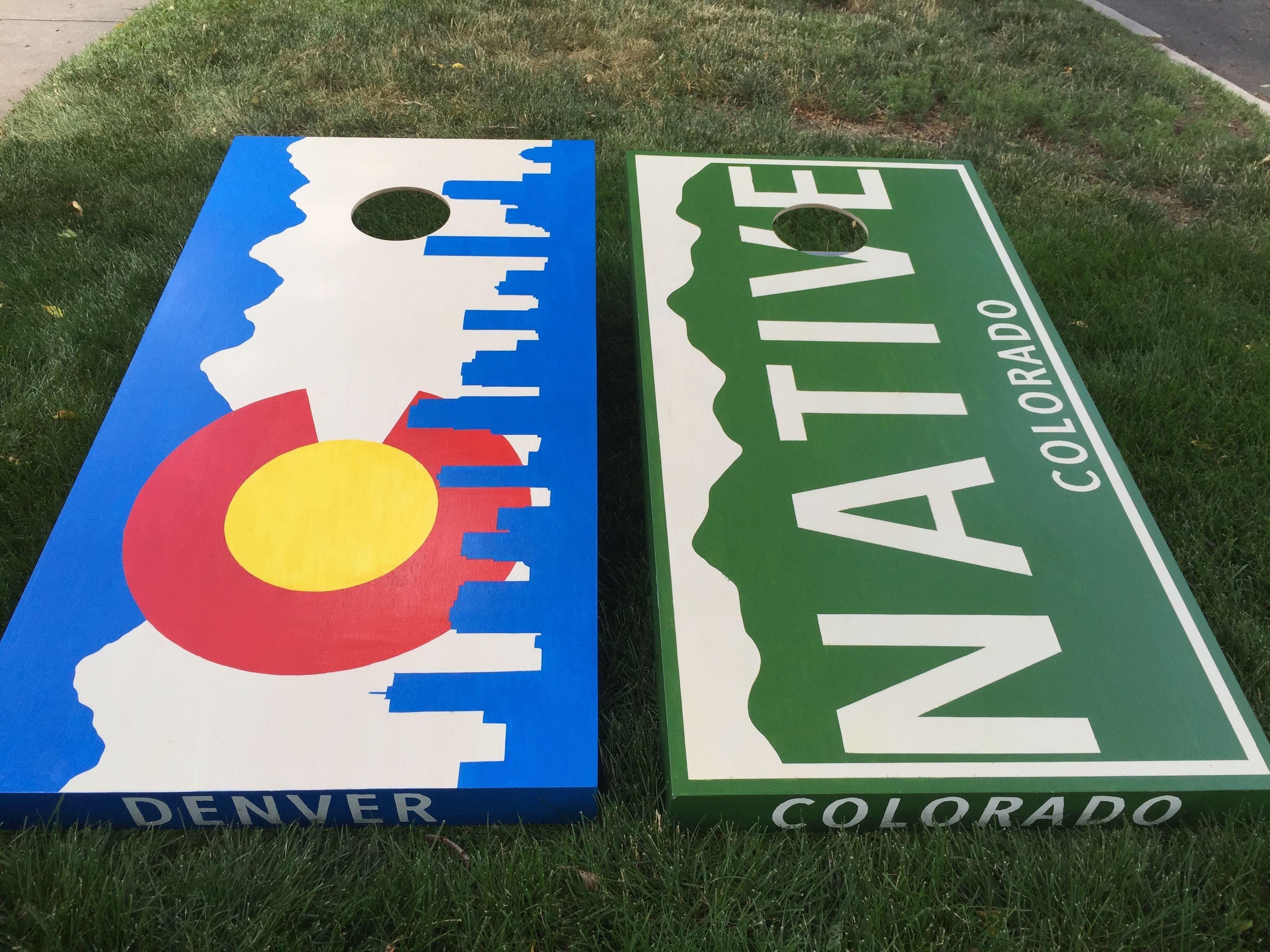 Cornhole Game by ColoradoJoes Denver Broncos Colorado Flag