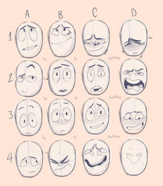 Pin By Tearice On Facial Piercings Facial Expressions Drawing Drawing Expressions Drawing Cartoon Faces