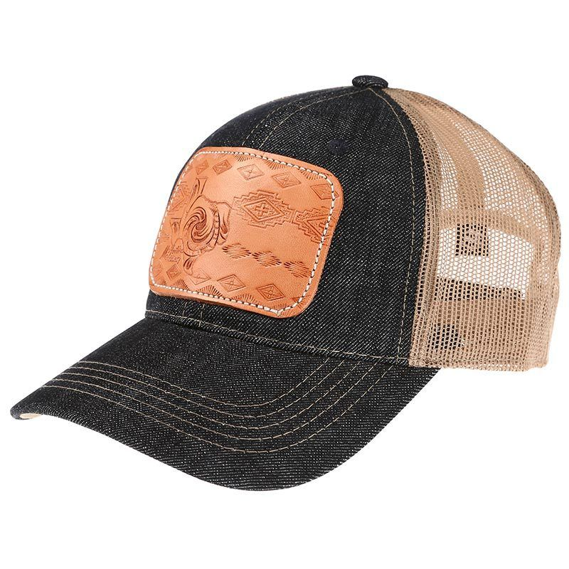 Ladies Tooled Leather Texas Cap