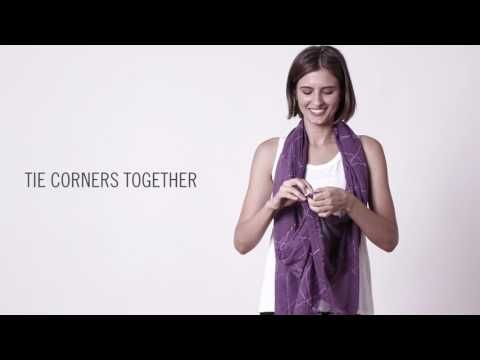 bb2d35991c0 How to Tie a Scarf  EILEEN FISHER June 2017 - YouTube