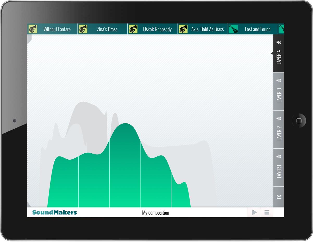 SoundMakers Ipad apps, Portfolio, App