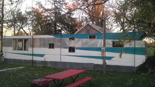 Victor Mid Century Mobile Home With Time Capsule Interior - Mobile home exterior renovations