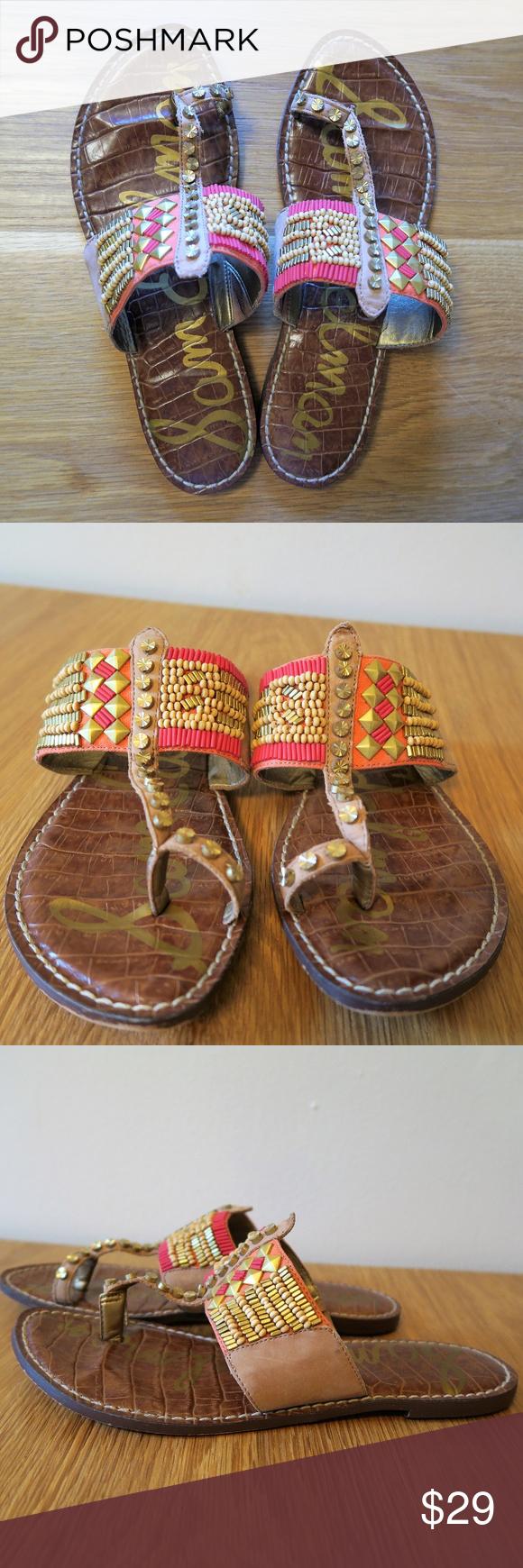 caefbdb63c64  Sam Edelman  Gideon Beaded Sandals 7.5 M Sam Edelman Gideon Beaded Sandals  Size 7.5
