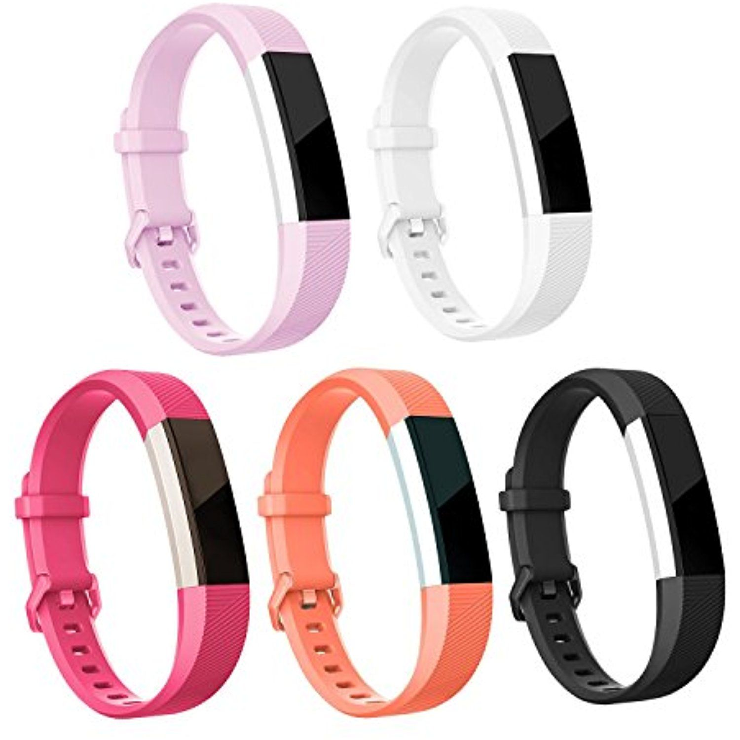 5-Pack Replacement Silicone Wrist Band Strap For Fitbit Alta Fitbit Alta HR