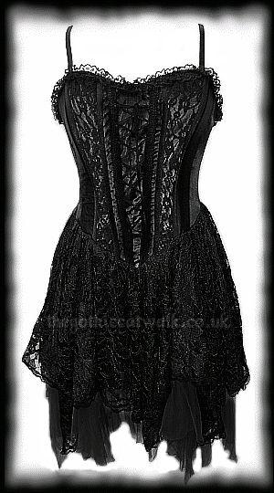 Black Velvet & Lace Gothic Corset Dress                                                                                                                                                                                 More