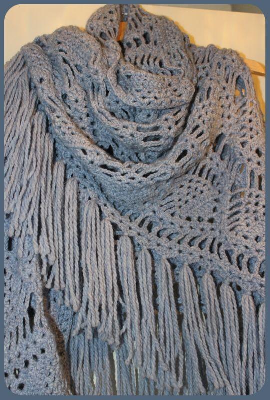 Omslagdoeksjaal Ananassteek Haken Crochet Knit Crochet En Knitting