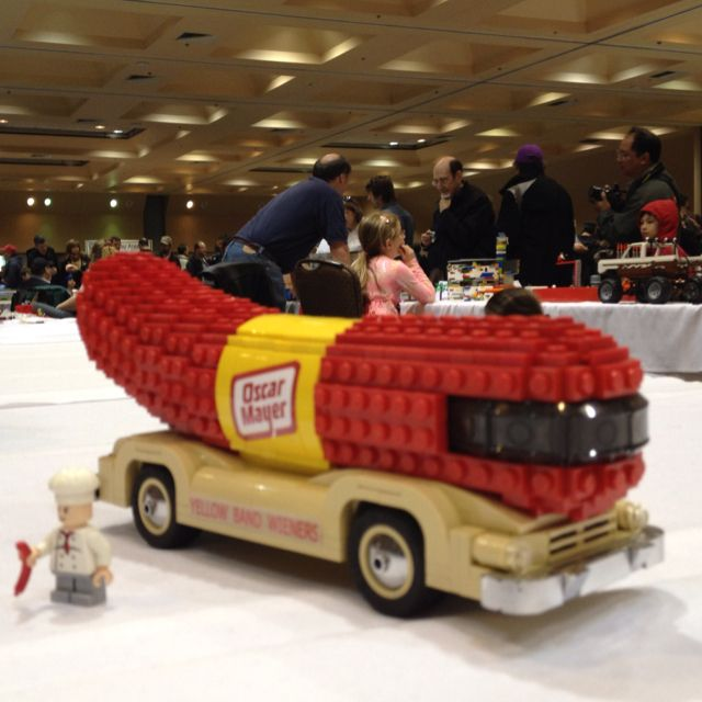 The weiner mobile - Bricks by the Bay Lego convention