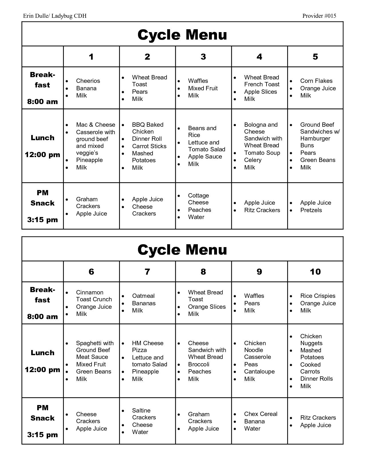 healthy diet cardiac menu sample