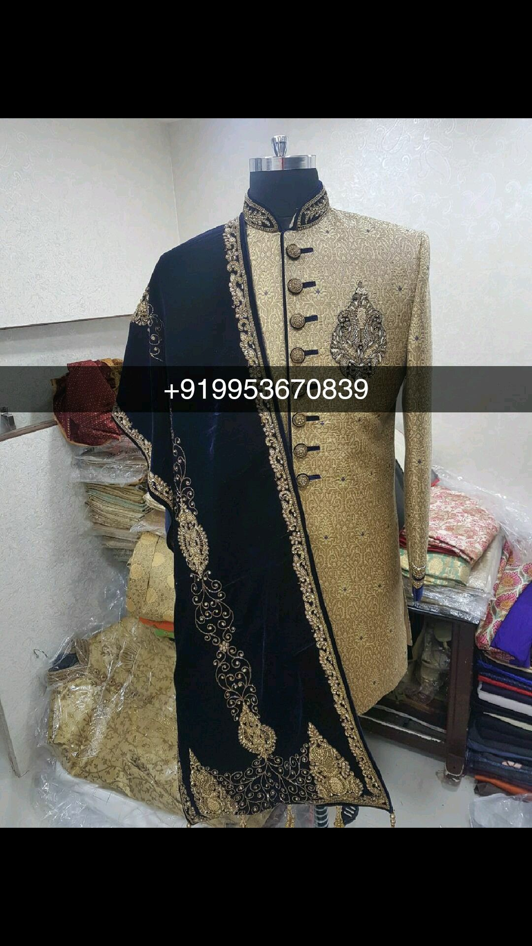 b19f27e9a8 Men Groom Dulha Sherwani Indowestern Latest Design Custom made according to  sizes Readymade sizes : 34