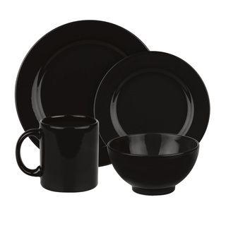 Casual Dinnerware For Less  sc 1 st  Pinterest & Waechtersbach Fun Factory Black 16-piece Dinnerware Set   Overstock ...