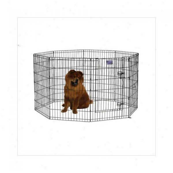 Midwest 55230dr Black Ecoat Pet Exercise Pen With Walk