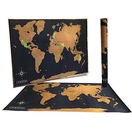 Large Scratch Off World Map.Large Scratch Off World Map Poster With Us States Included