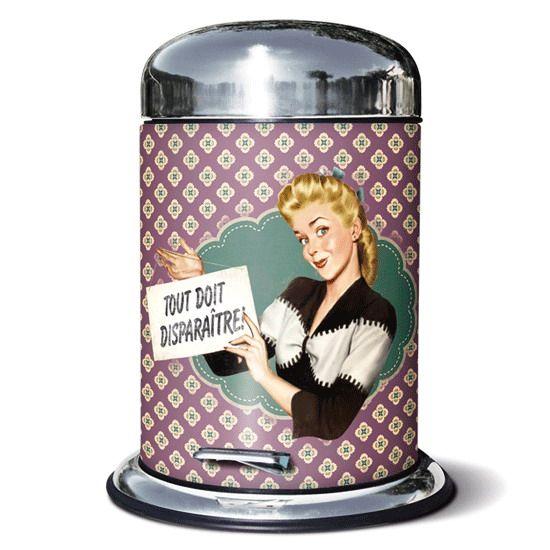 Accesorios de cocinas cubo de basura retro cubos de basura cubo de basura ba os y - Cubos de basura originales ...