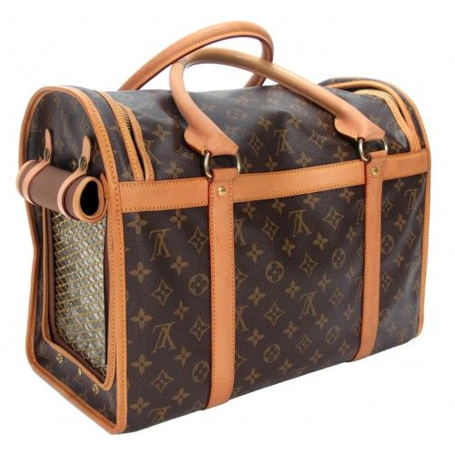 3cdd5a6c5ddc Louis Vuitton Monogram Sac Chien 40 Pet Carrier Dog Bag  PorteroPinToWin