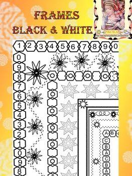 Frames - borders - 46 Black & White #framesandborders