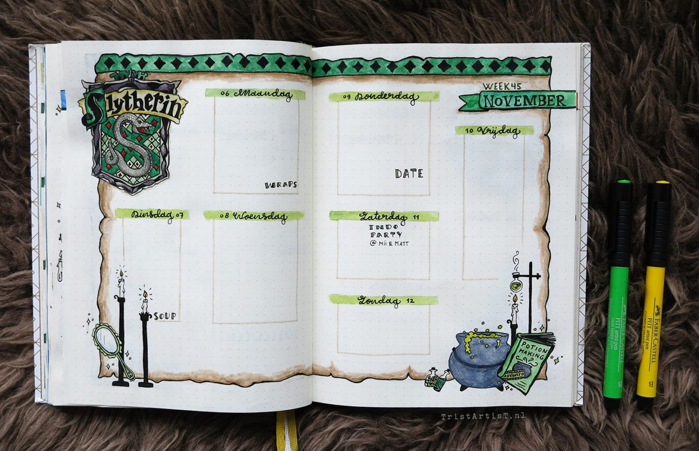 Bullet journal harry potter hufflepuff theme bullet journal ideas journal ideen journal - Schulprojekte ideen ...