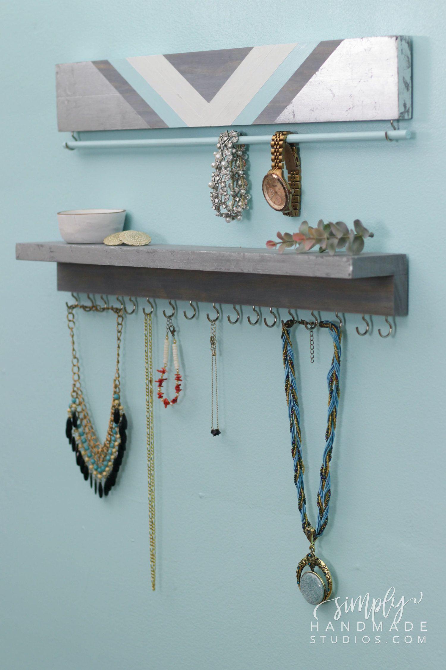 Diy Jewelry Organizer Simply Handmade Studios In 2020 Diy Jewelry Organizer Box Jewelry Organizer Box Diy Jewelry Holder