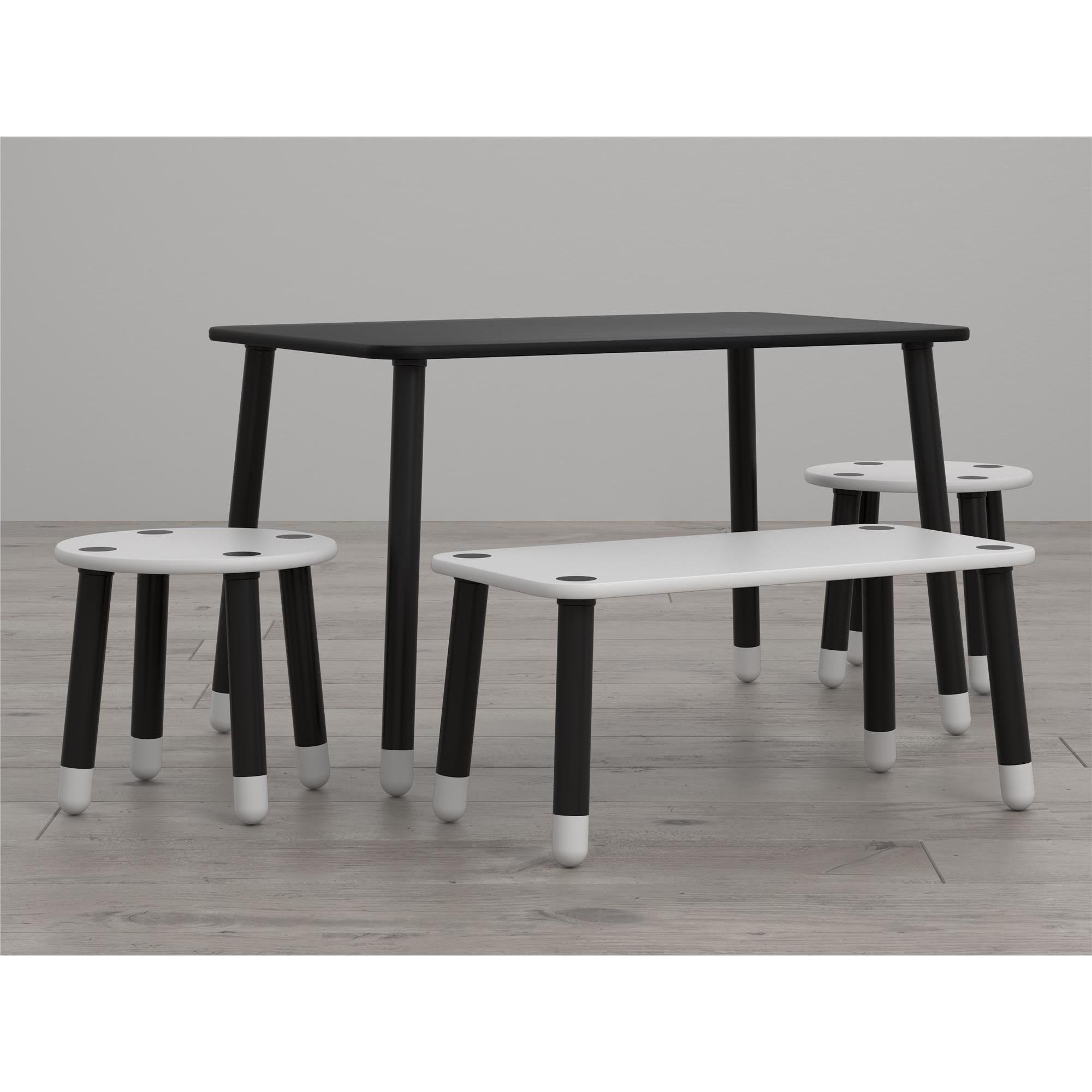 Superb Little Seeds Clover Chalkboard Top Play Table And Bench Set Creativecarmelina Interior Chair Design Creativecarmelinacom